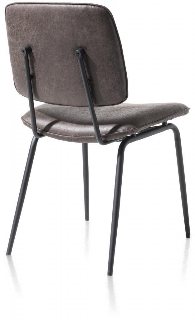 Chaise minimaliste et rétro couleur anthracite