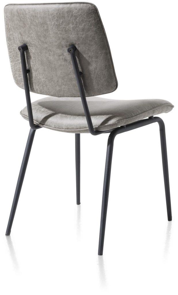Chaise minimaliste et rétro couleur gris clair