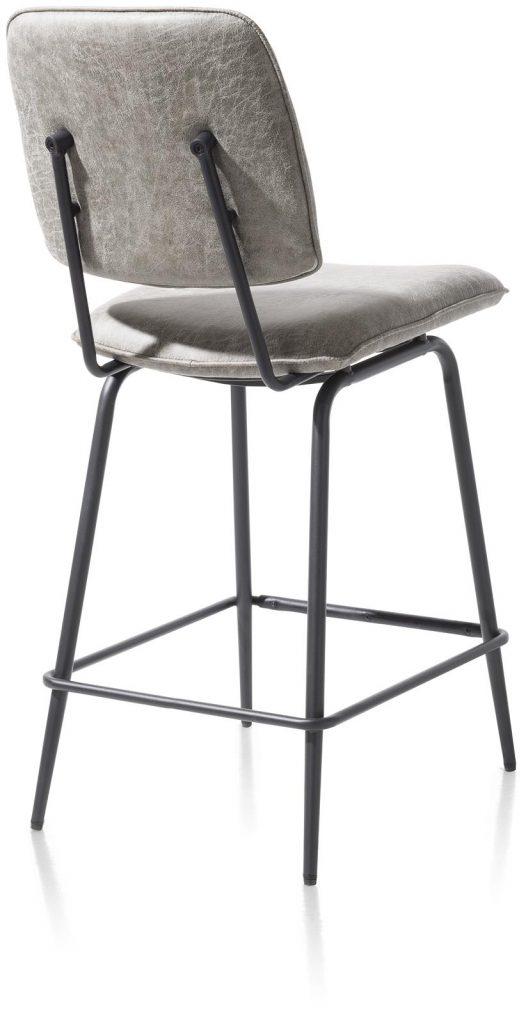 Chaise de bar minimaliste et rétro couleur gris clair