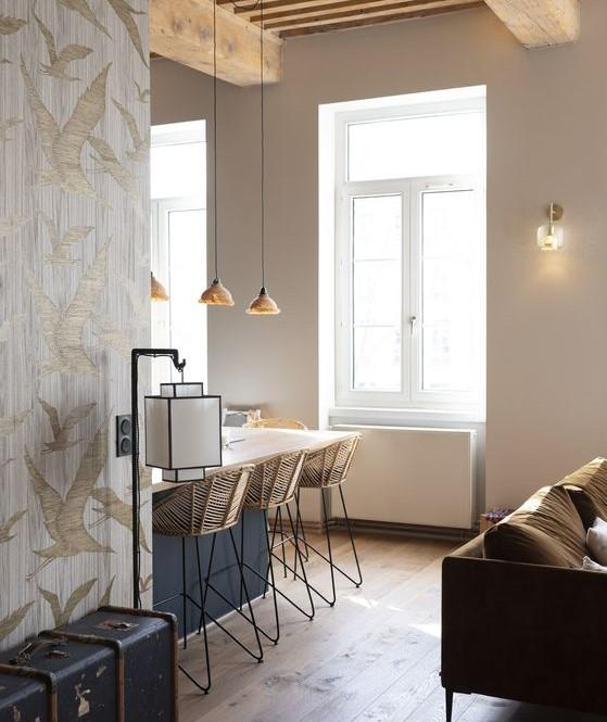 Appartement décoration naturelle et minimaliste
