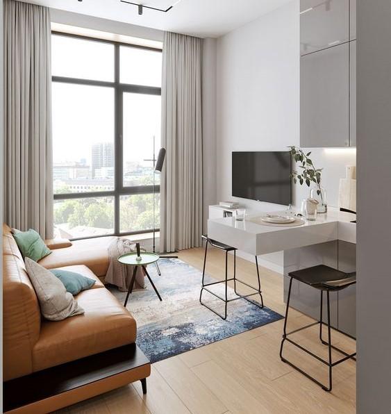 Salon appartement moderne et lumineux