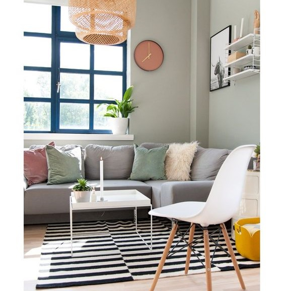 Décoration salon couleurs pastel
