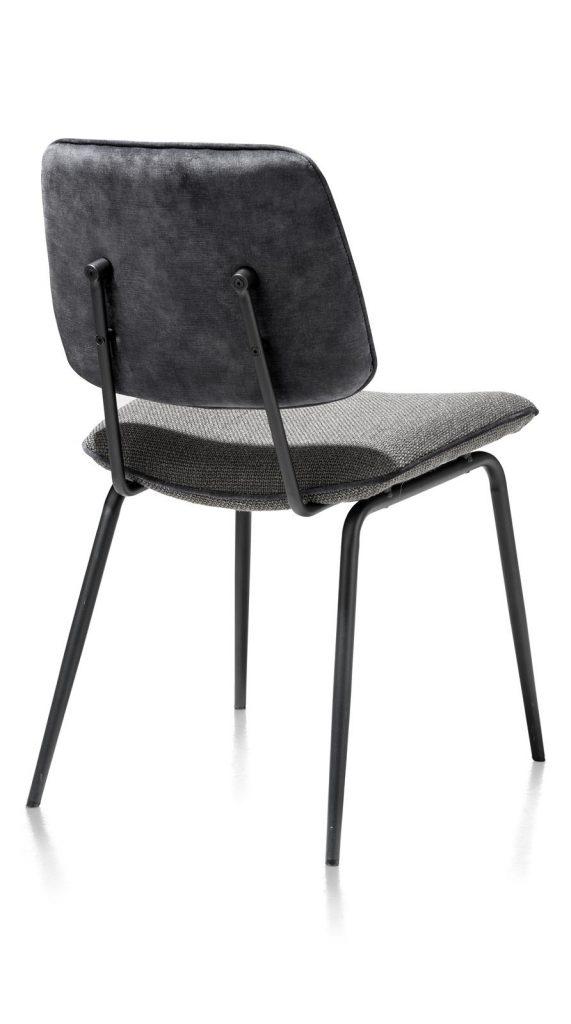 Chaise minimaliste et rétro en tissu anthracite