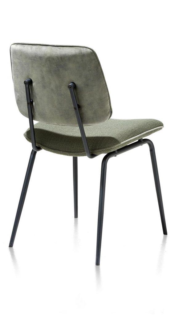 Chaise minimaliste et rétro en tissu olive