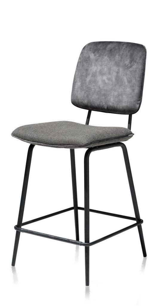 Chaise de bar minimaliste et rétro couleur anthracite