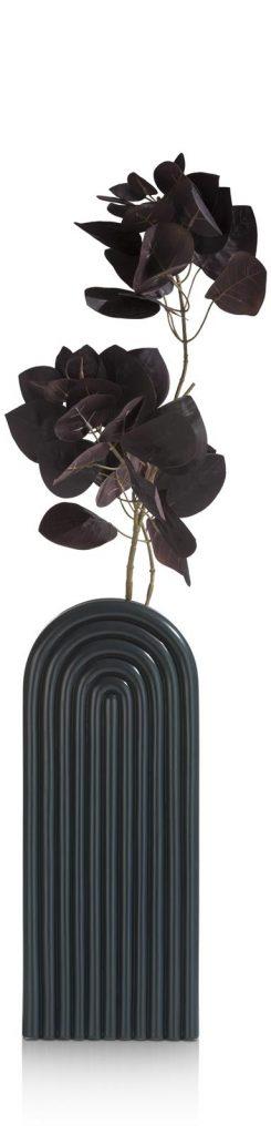 Vase haut et contemporain en céramique noire