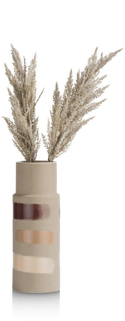 Vase haut en céramique couleur sable