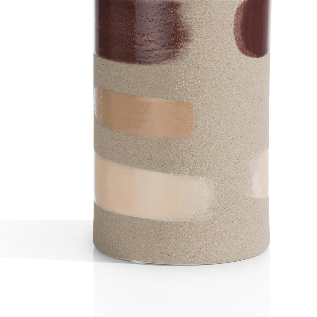 Vase en céramique couleur sable