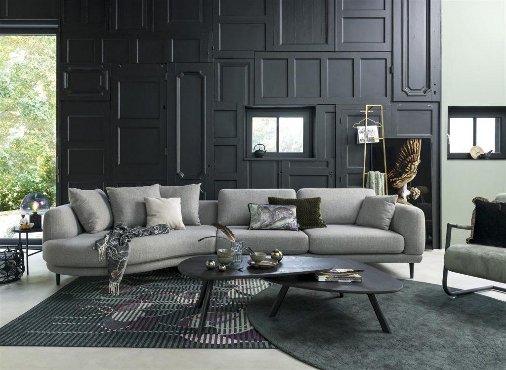 Ambiance salon contemporain aux teintes de gris