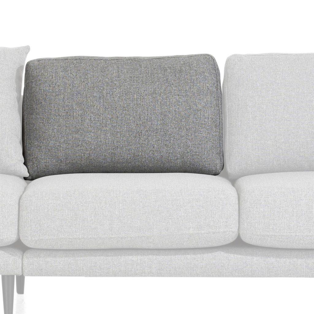 Coussin de canapé en tissu gris