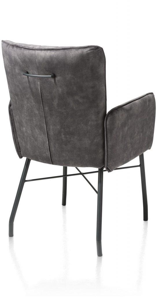 Chaise fauteuil contemporaine en tissu gris