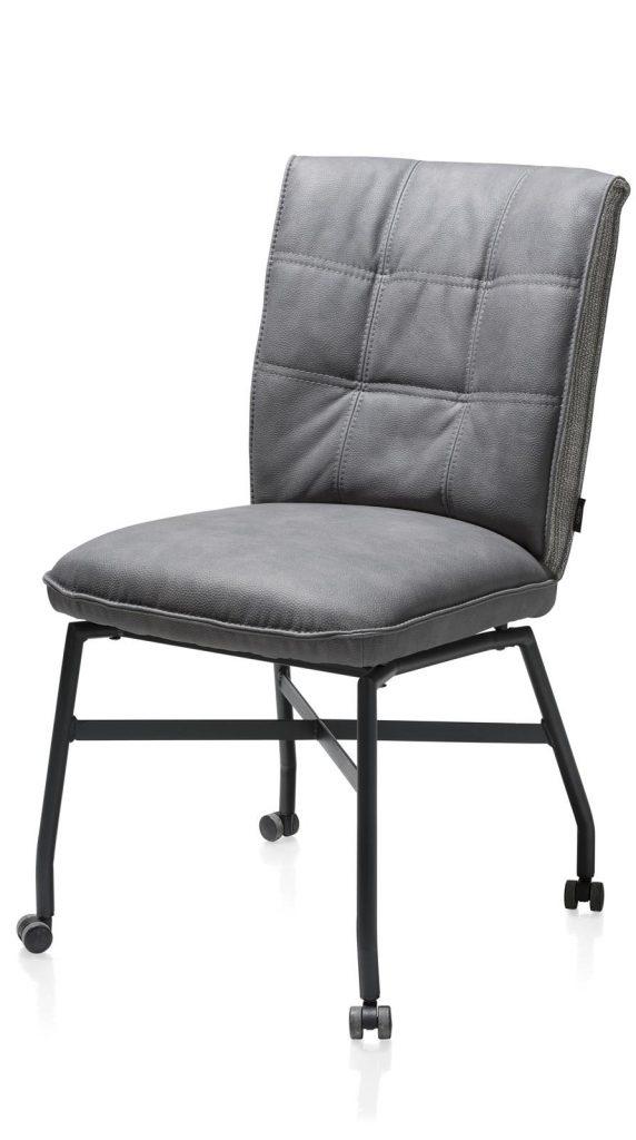 Chaise sur roulettes confortable et contemporaine en microfibre