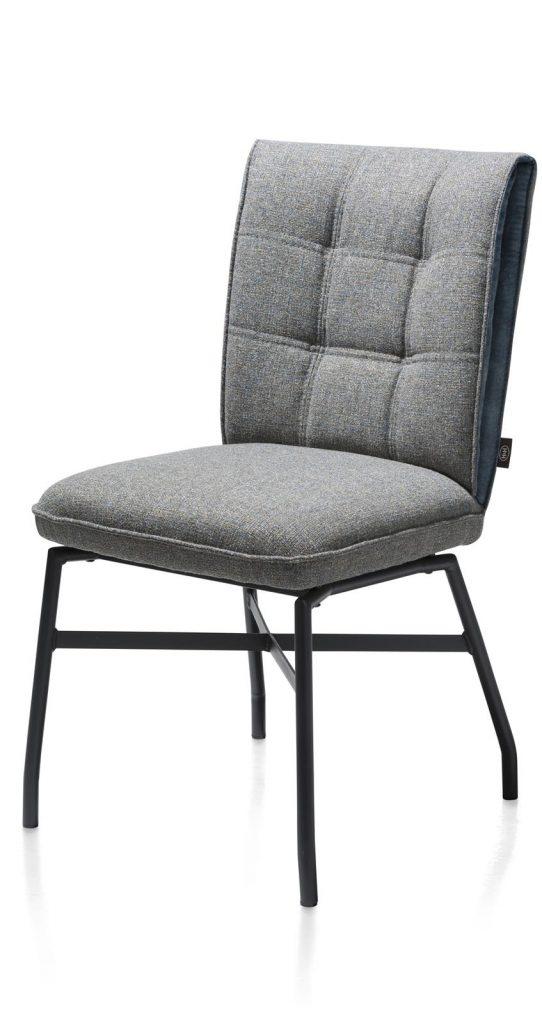 Chaise confortable et contemporaine en tissu