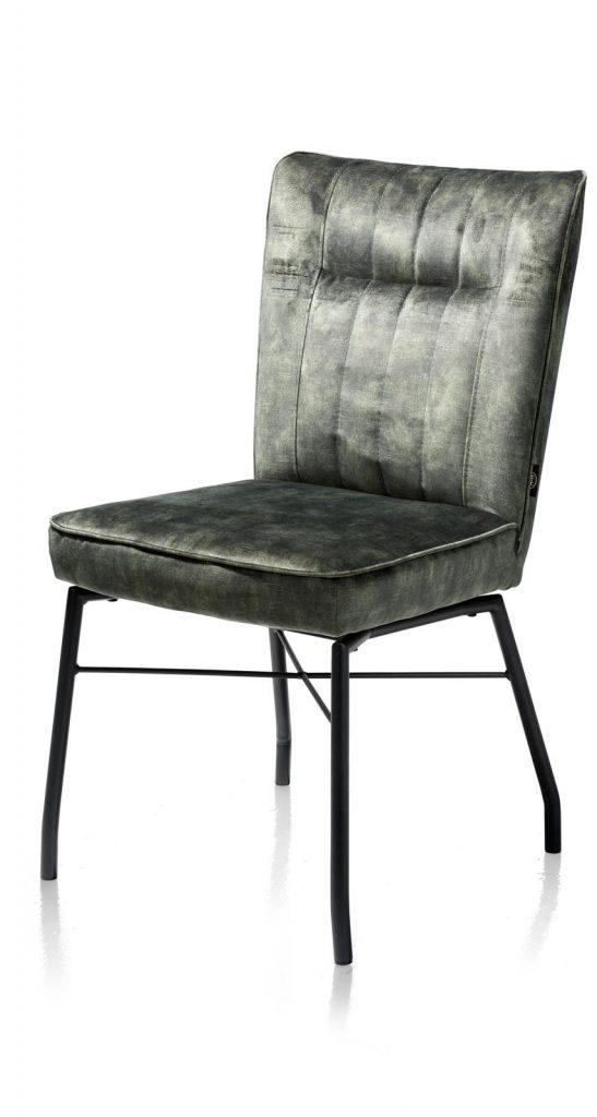 Chaise contemporaine en tissu vert