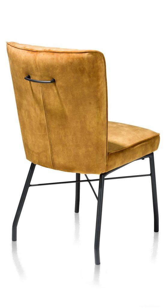 Chaise contemporaine en tissu ocre