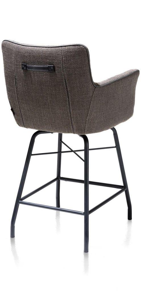 Chaise-fauteuil de bar en tissu anthracite