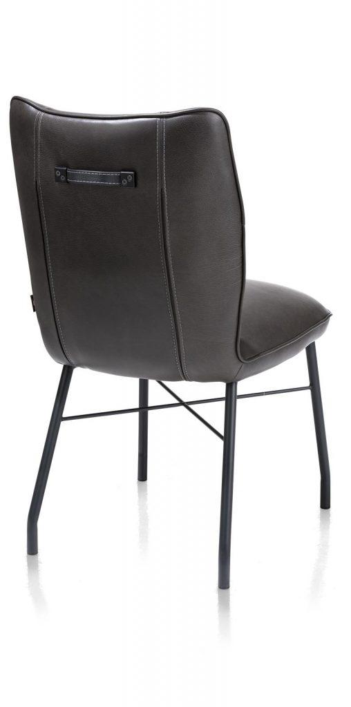 Chaise contemporaine et confortable en cuir anthracite