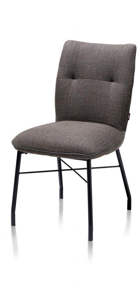 Chaise contemporaine et confortable en tissu anthracite