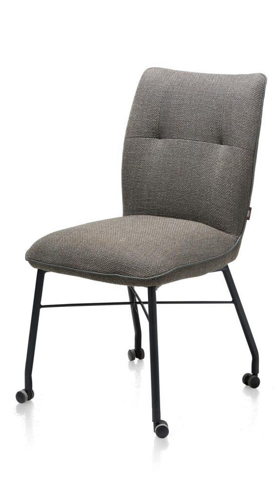 Chaise à roulettes contemporaine et confortable en tissu anthracite