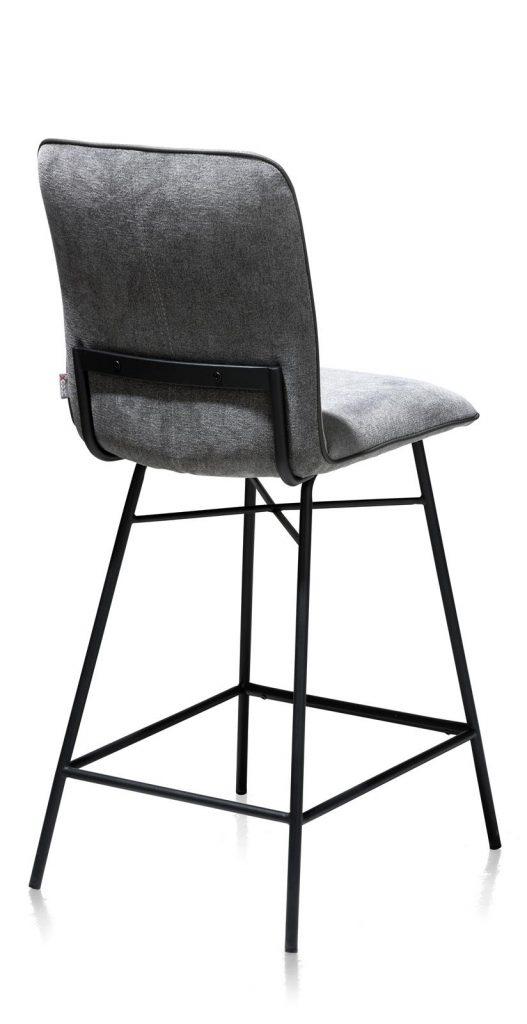 Chaise de bar minimaliste en tissus couleur anthracite