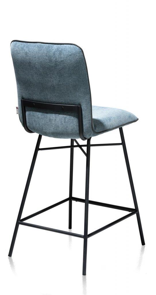 Chaise de bar minimaliste en tissus couleur bleu pastel