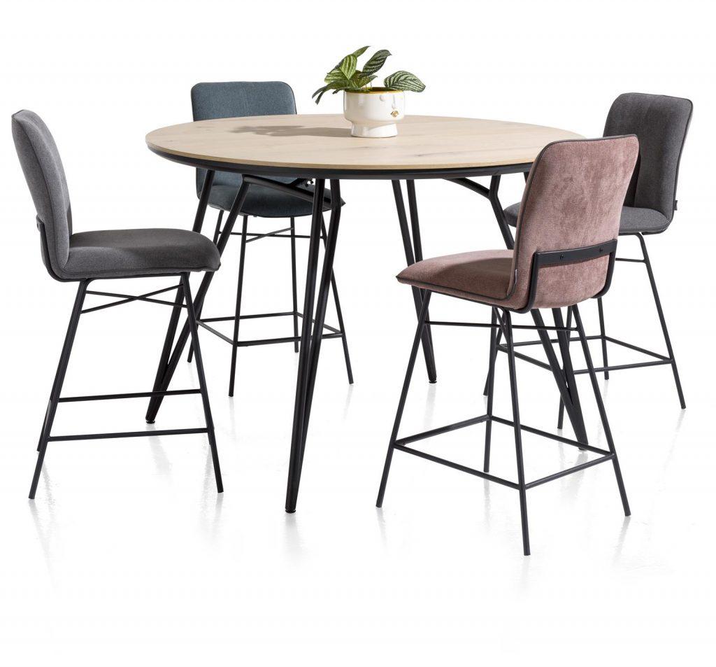 Chaise de bar minimaliste en tissus couleur tendance