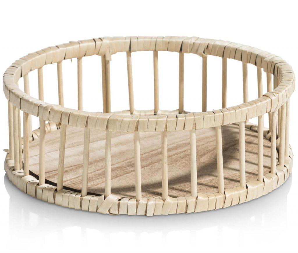 Saladier ou plateau en bamboo rond
