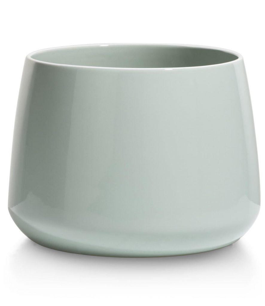 Pot de fleurs en céramique couleur menthe