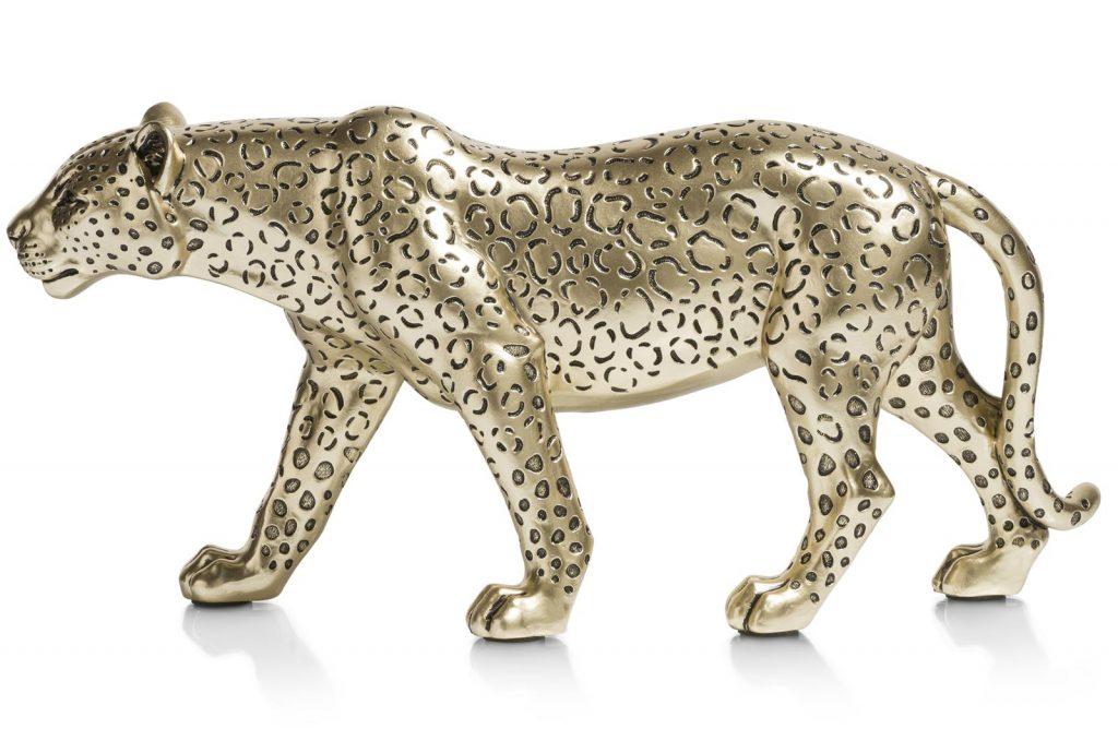 Objet décoratif léopard doré