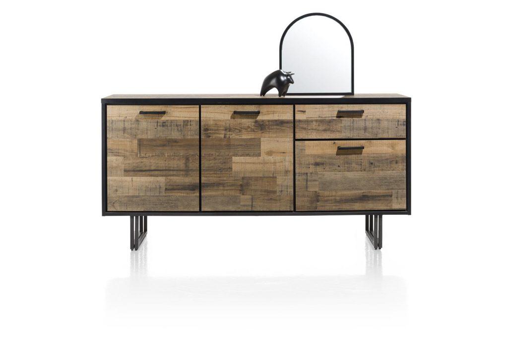 Buffet bois et métal style industriel et vintage