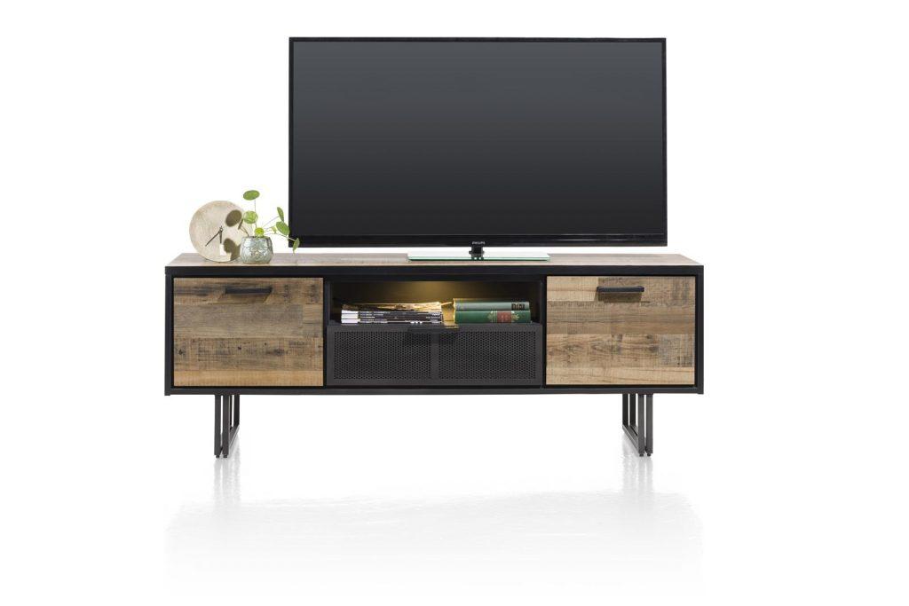 Meuble TV style industriel en bois et métal