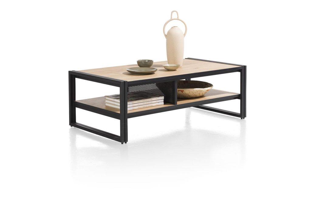Table basse bois et métal style moderne et industriel