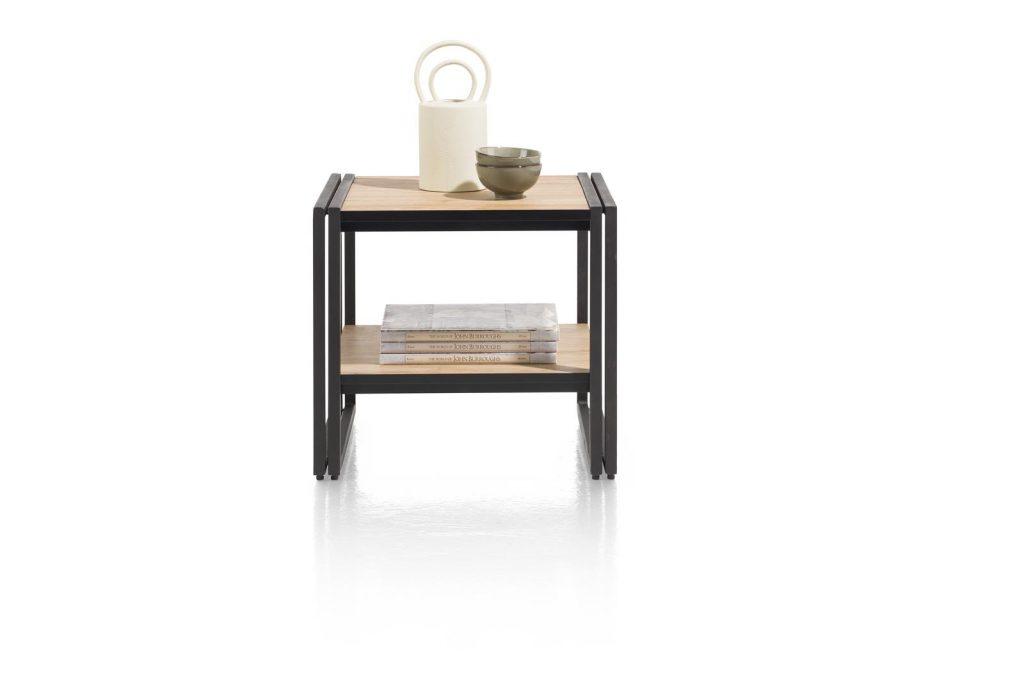 Bout de canapé bois et métal style moderne et industriel