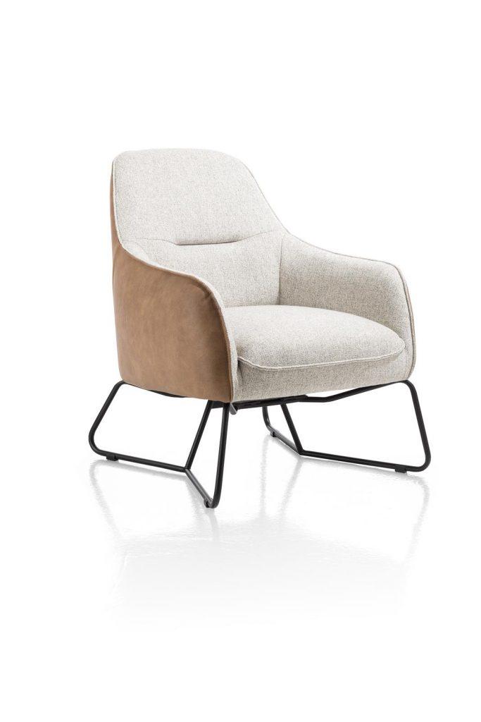 Fauteuil contemporain confortable bi-matière