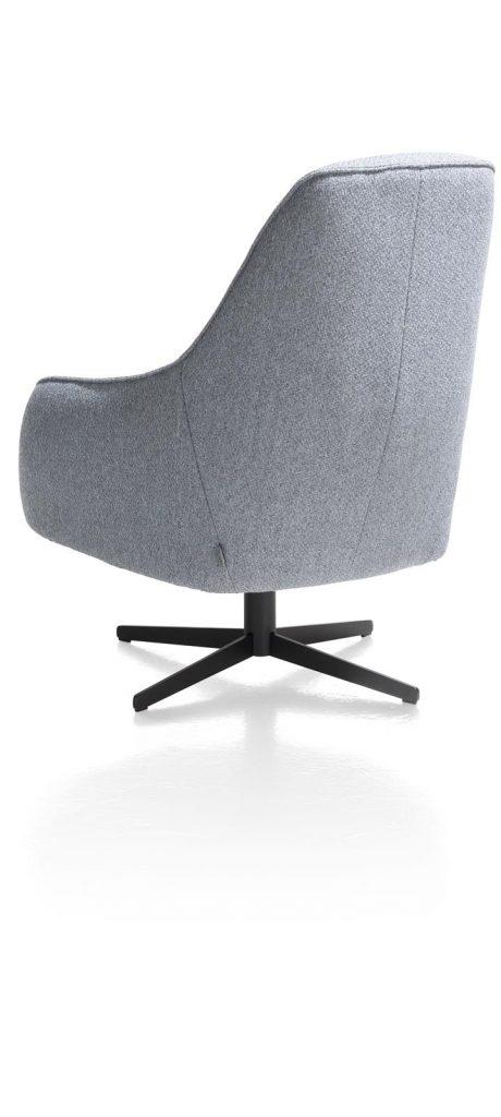 Fauteuil contemporain confortable et pivotant en tissu gris
