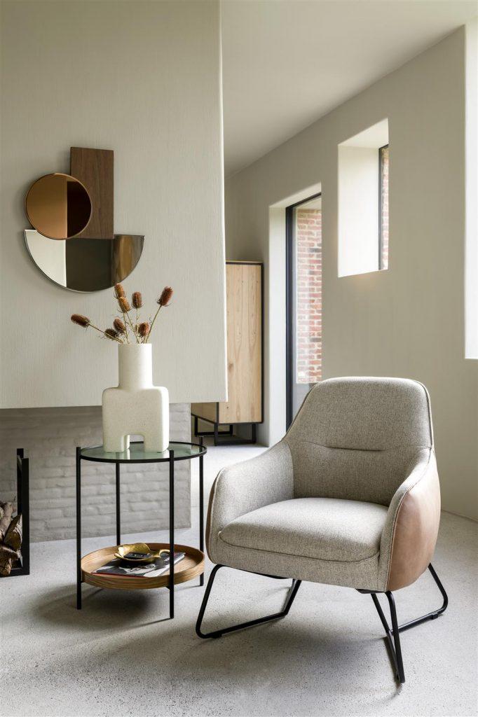 Fauteuil design contemporain confortable bi-matière