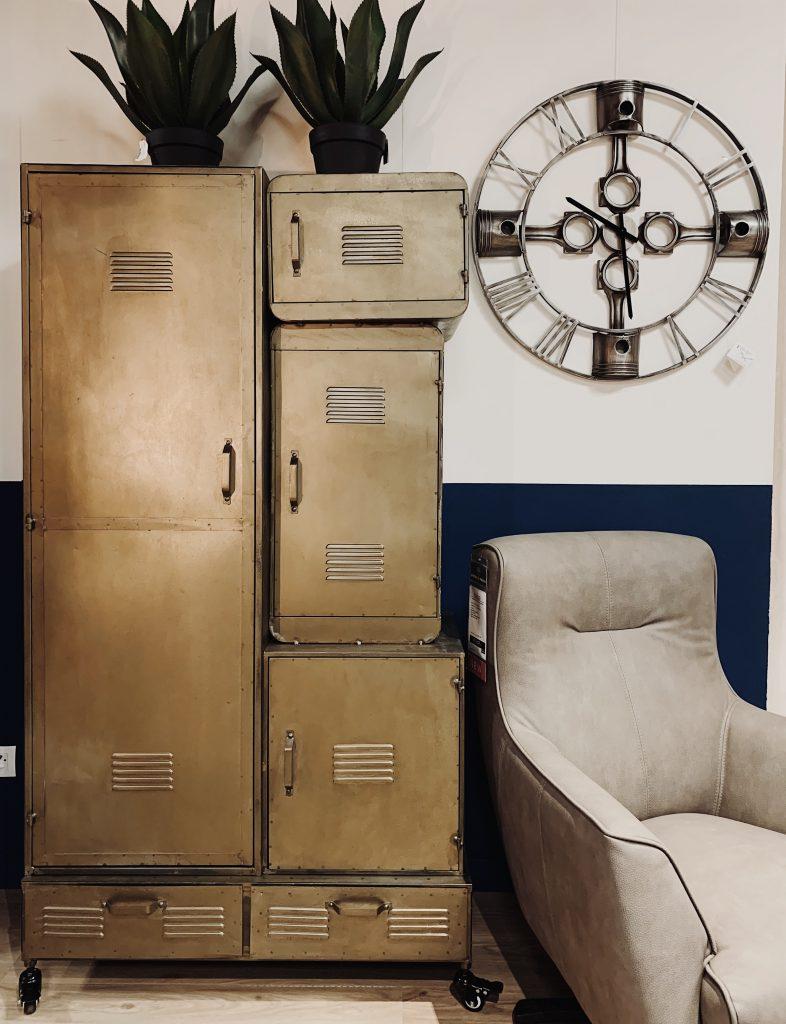 Armoire industrielle et vintage en métal