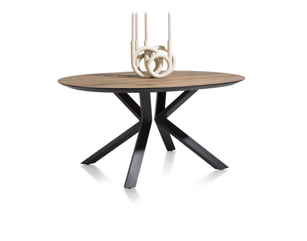 Table ovale design en bois de chêne