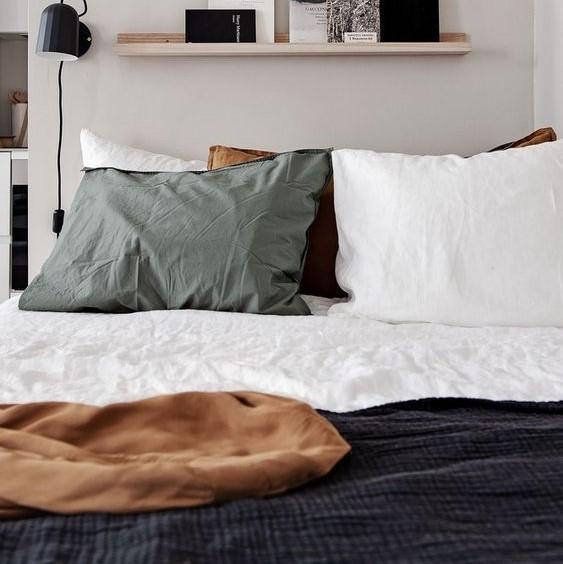 Linge de lit en coton couleurs tendances
