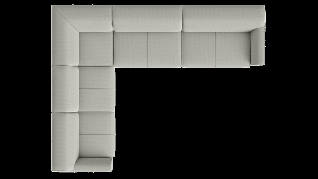 Canapé d'angle en tissu gris