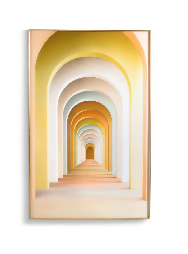 Tableau rectangulaire impression sur verre couleurs pastel
