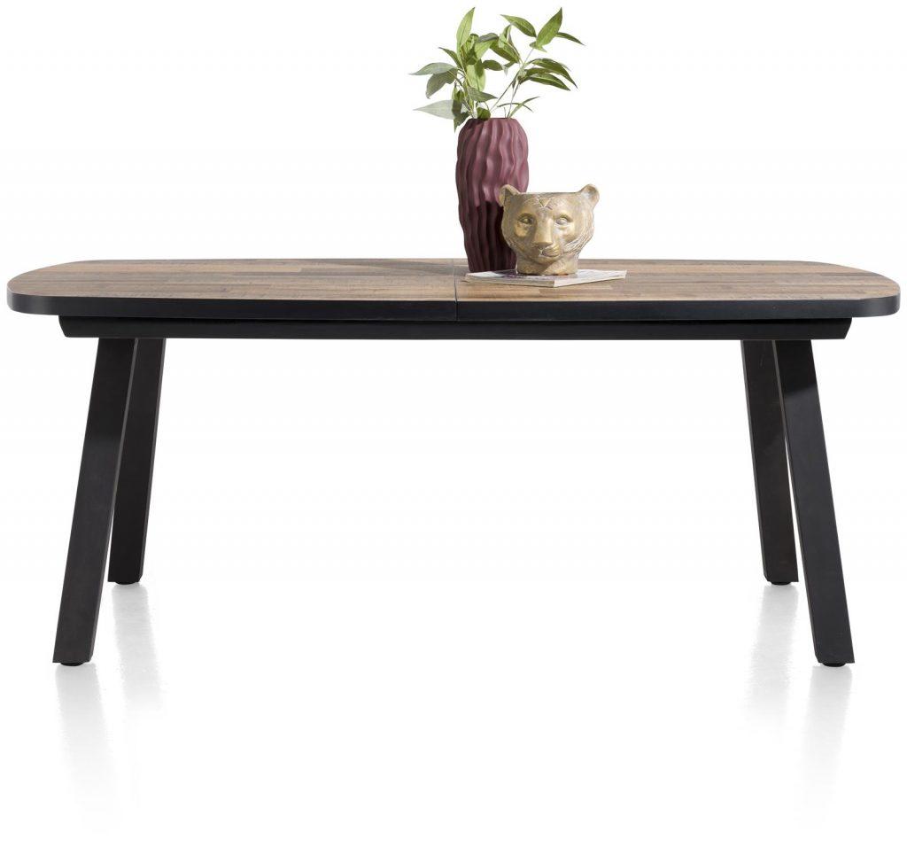 Table à manger à rallonges en bois et métal
