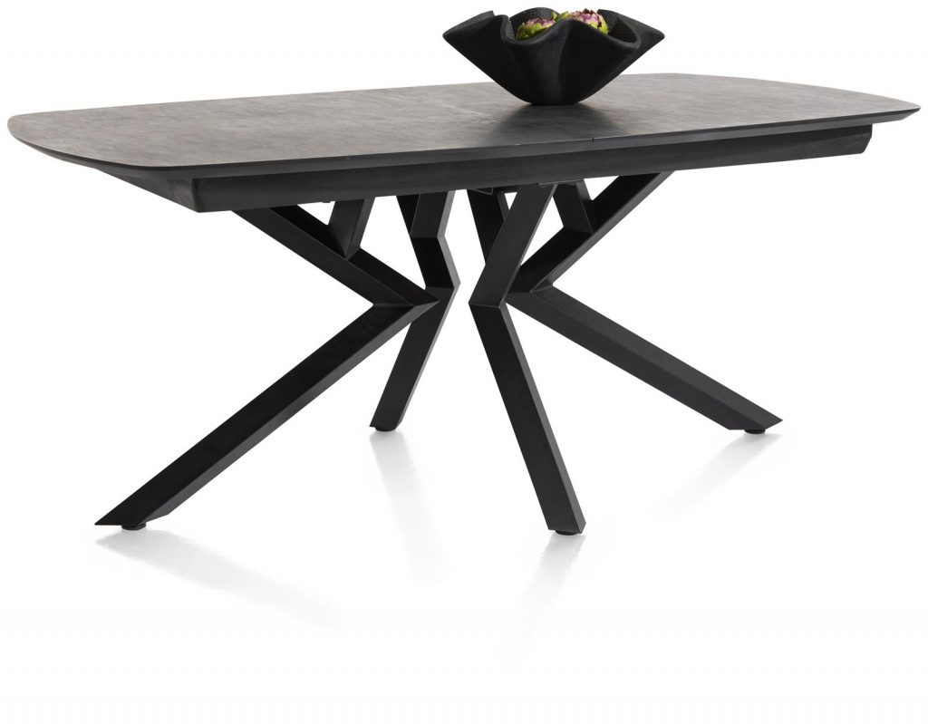 Table à rallonge design plateau anthracite