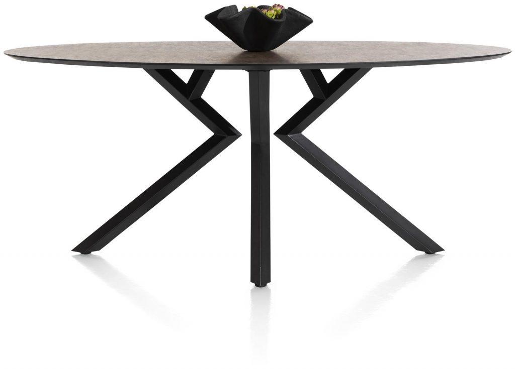 Table de bar familiale piétement design et plateau couleur anthracite