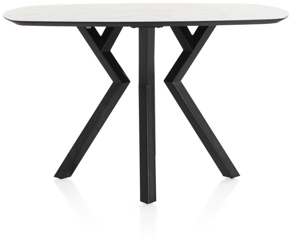 Table de bar design métal et plateau marbre blanc
