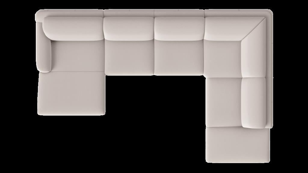 Canapé d'angle contemporain 100% personnalisable