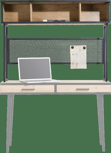 Partie haute de console bois d'acacia pour bureau d'appoint