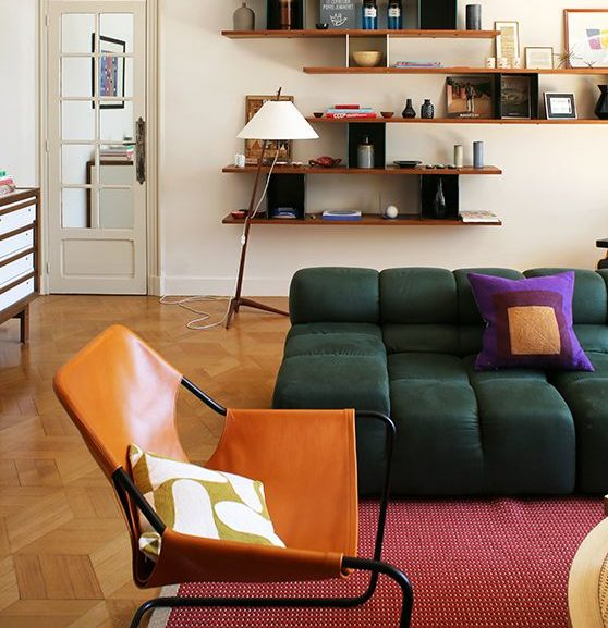 Salon d'appartement décoration mix and match