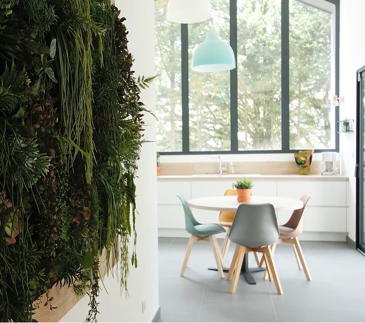 Mur végétal maison d'architecte la Déco by Séb et Nico