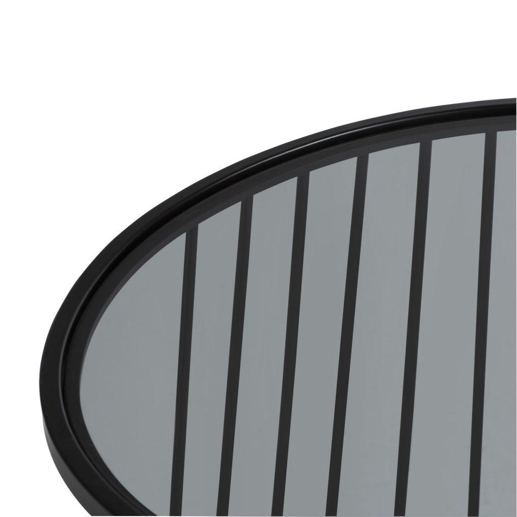 Bout de canapé design 100% métal noir